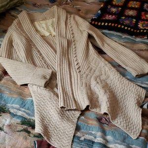 Anthropologie Sweater Wool Flyaway Open